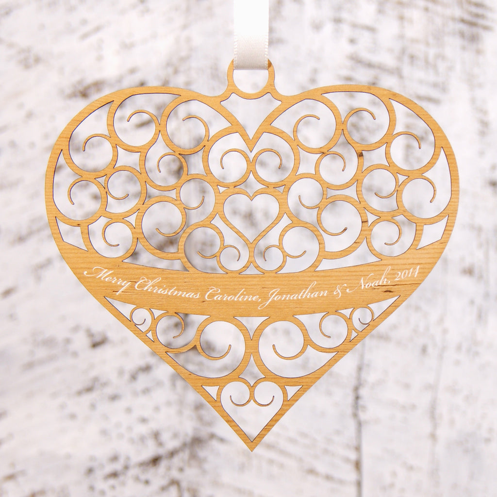 Personalised Christmas Decoration - Love Heart