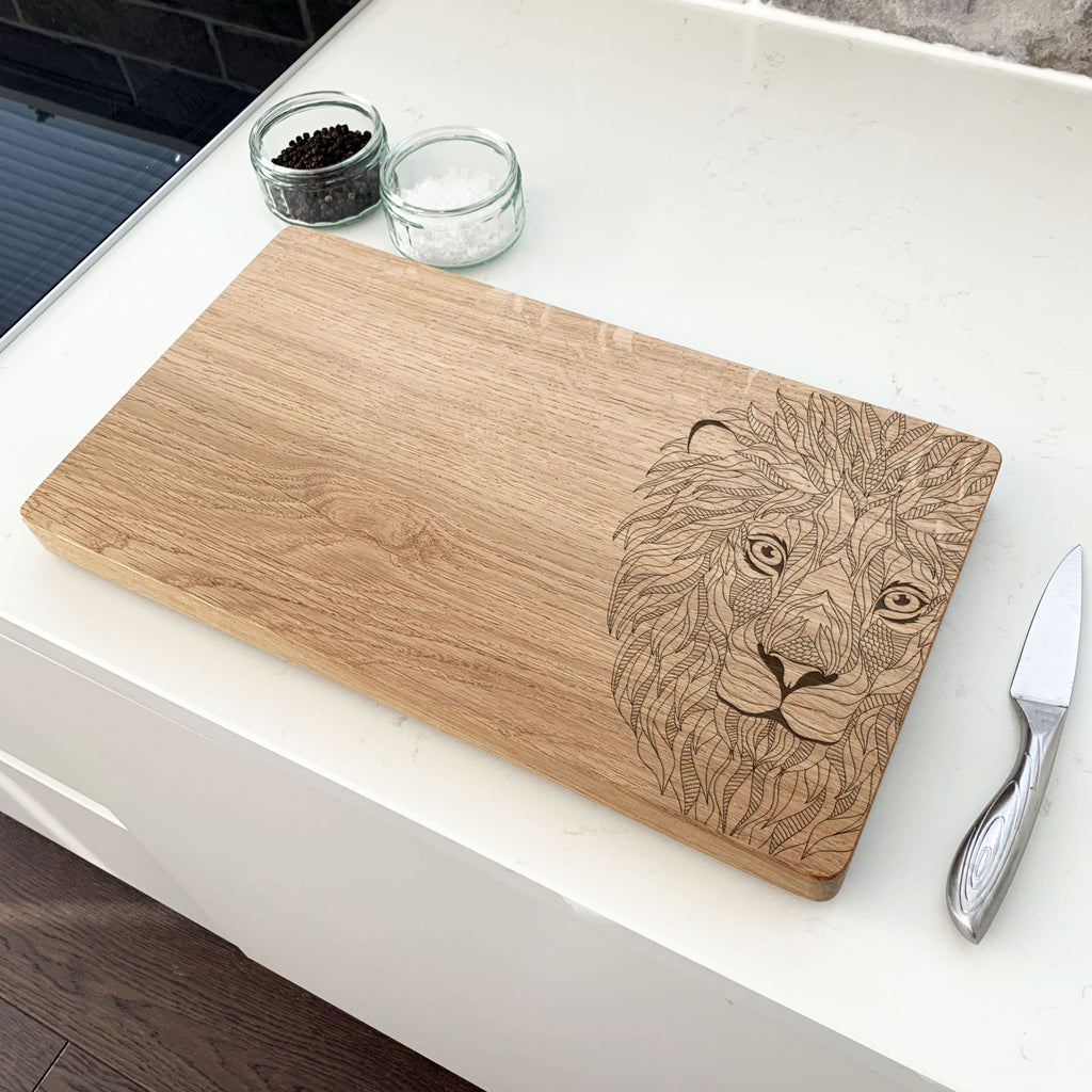 Wooden Lion Chopping Board