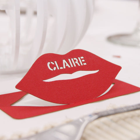 Lip Place Card in Vermillion