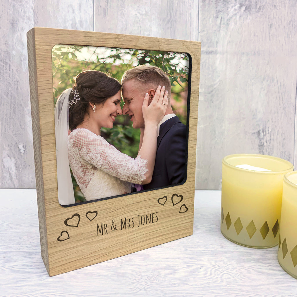 Personalised Love Hearts Photo Block