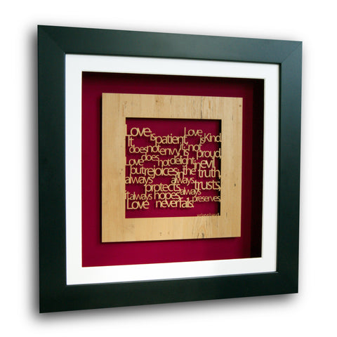 Personalised Corinthians 13 'Love is...' Wall Art