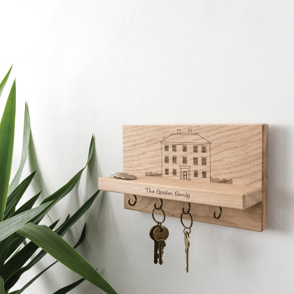 Personalised Manor House Key Holder