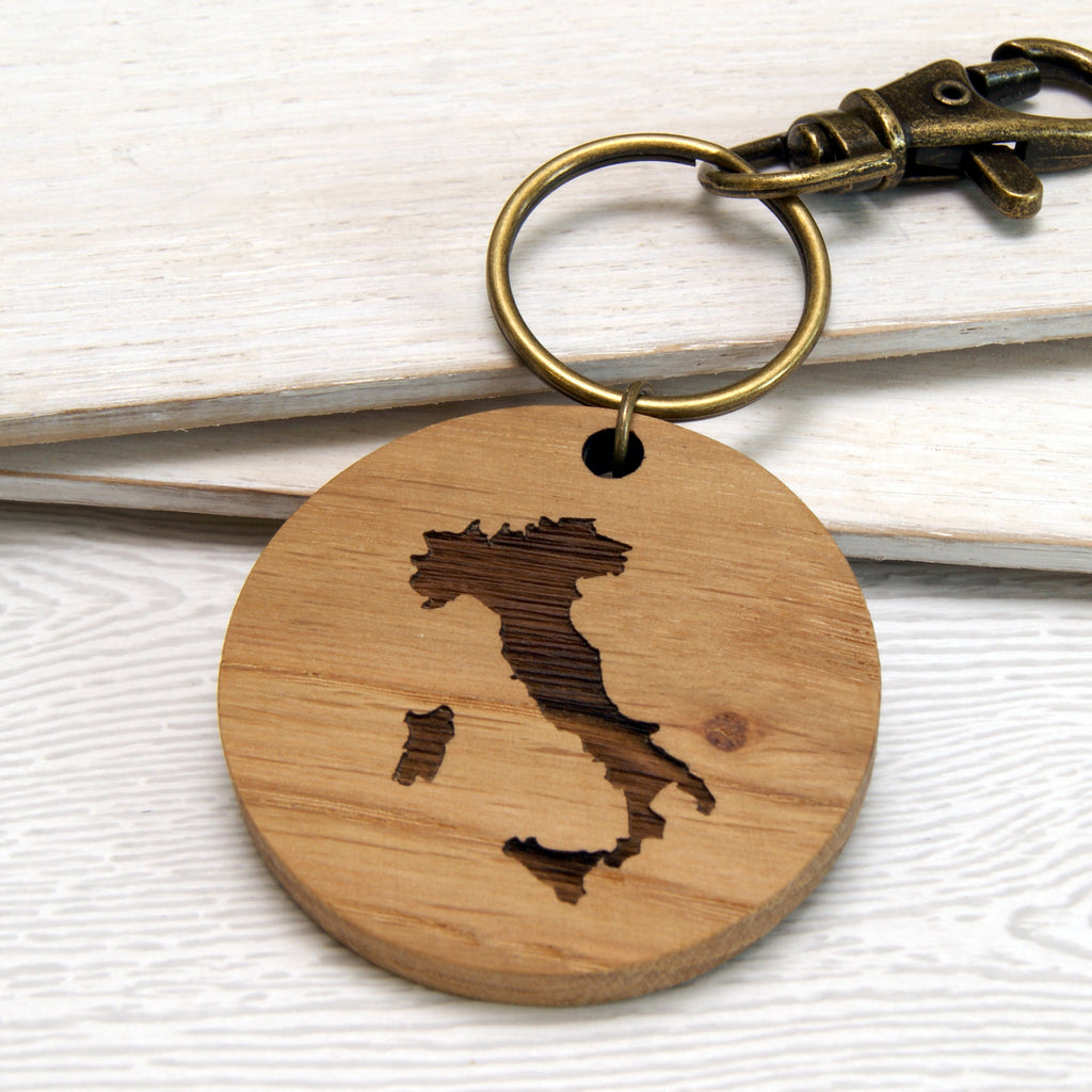 Special Destination Map Keyring
