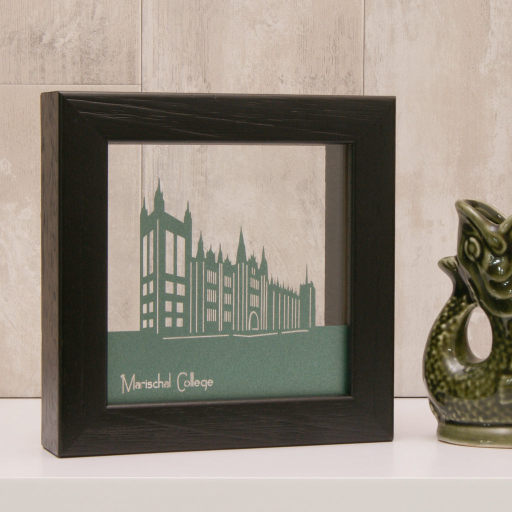 Marischal College in Pearlescent Emerald Green