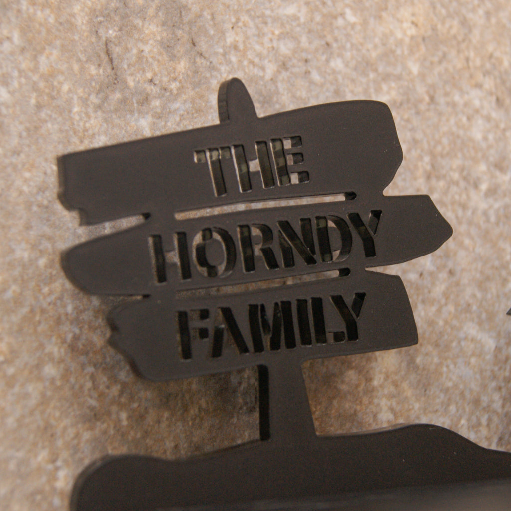 Personalised Medium Family Key Holder