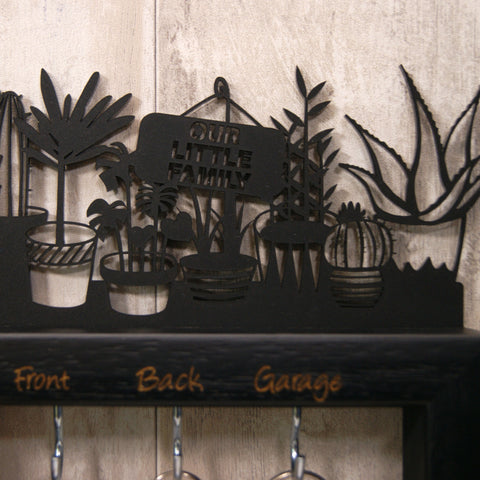 Personalised Medium Potted Plants Key Holder