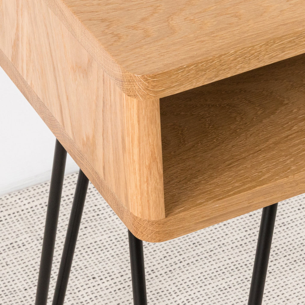 Mid Century Side Table with Black Legs