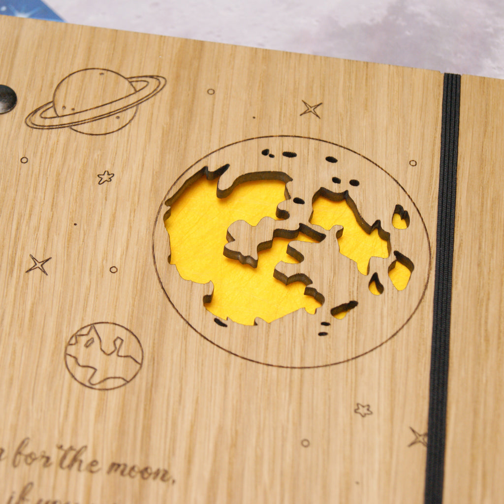 Moon Notebook in Yellow