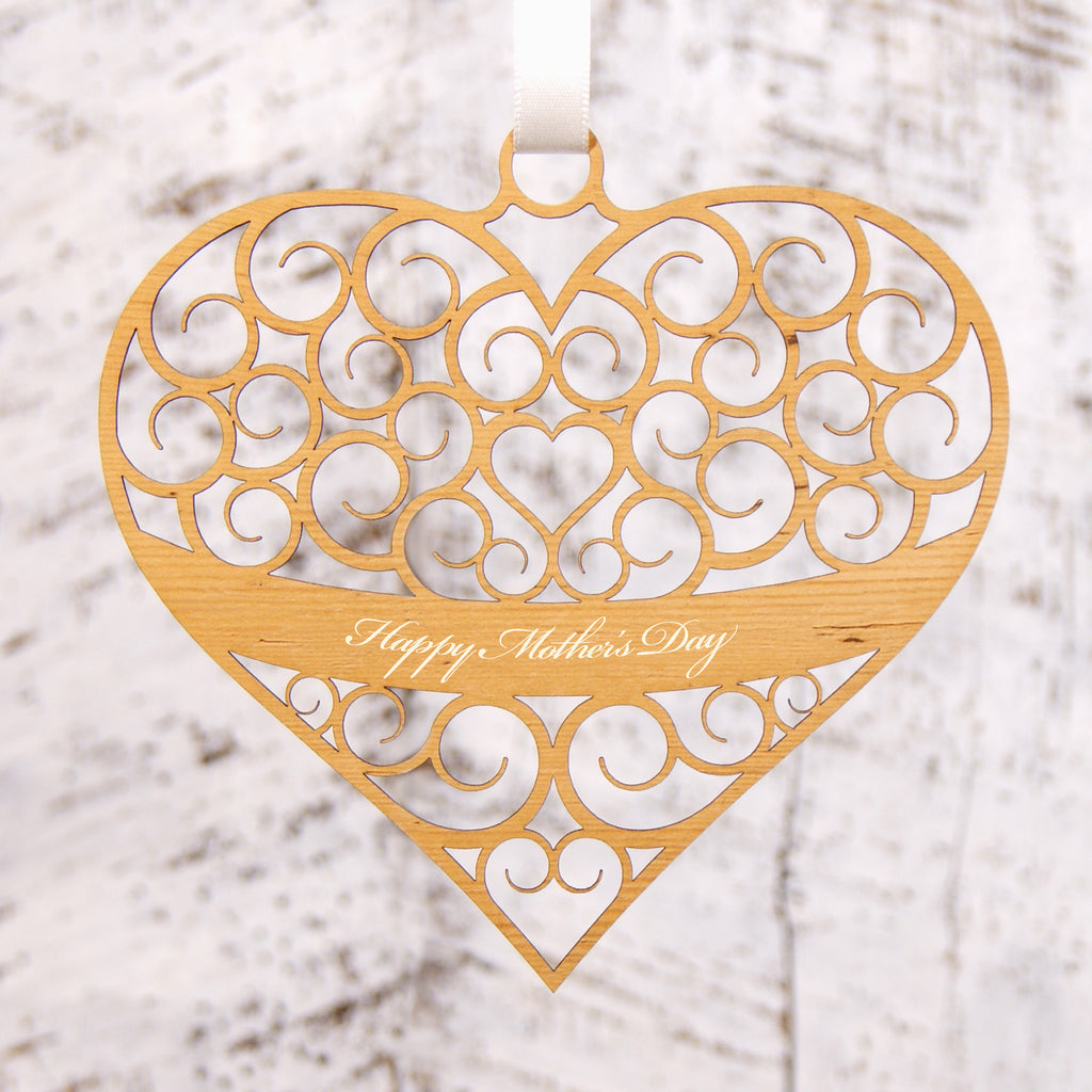 Personalised Spiral Heart Decoration