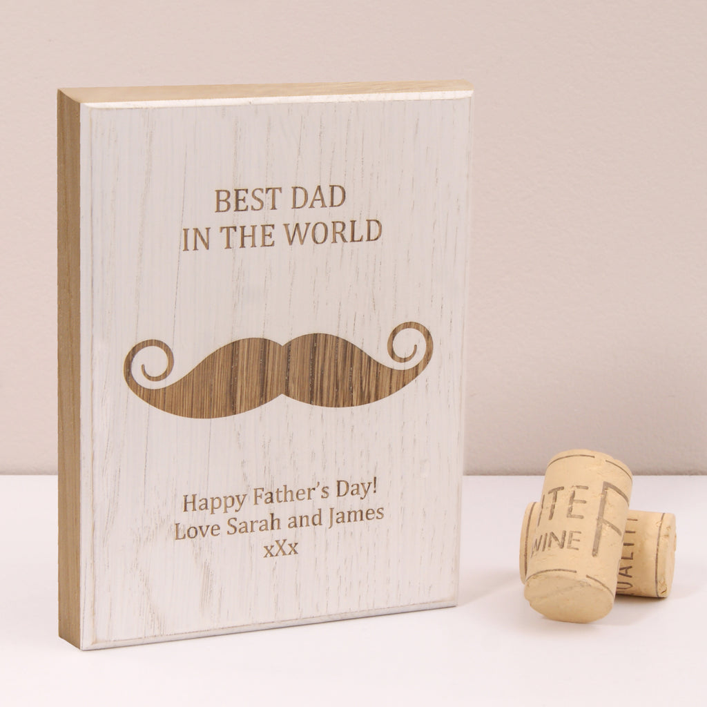 Personalised Moustache Wooden Artwork