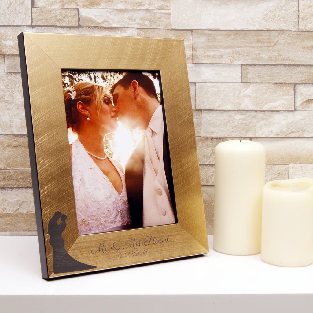 Personalised Silhouette Wedding Photo Frame