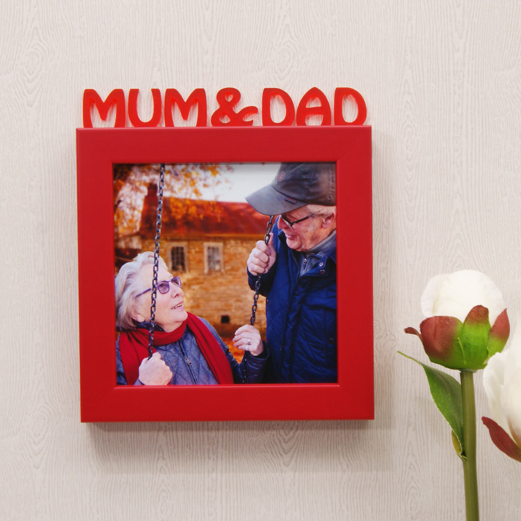 Mum & Dad Mini Frame in Red