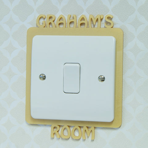 Personalised Name Light Switch Surround
