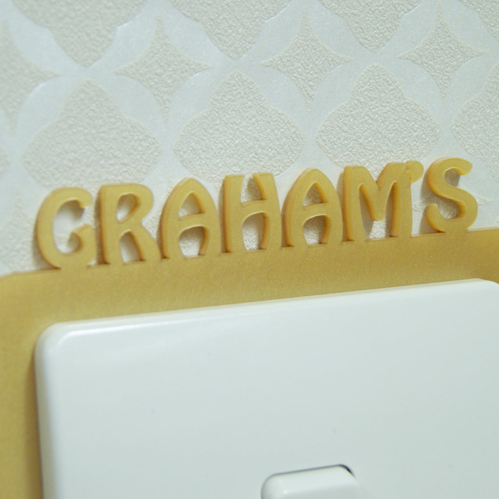 Name Surround in Pearlescent Gold