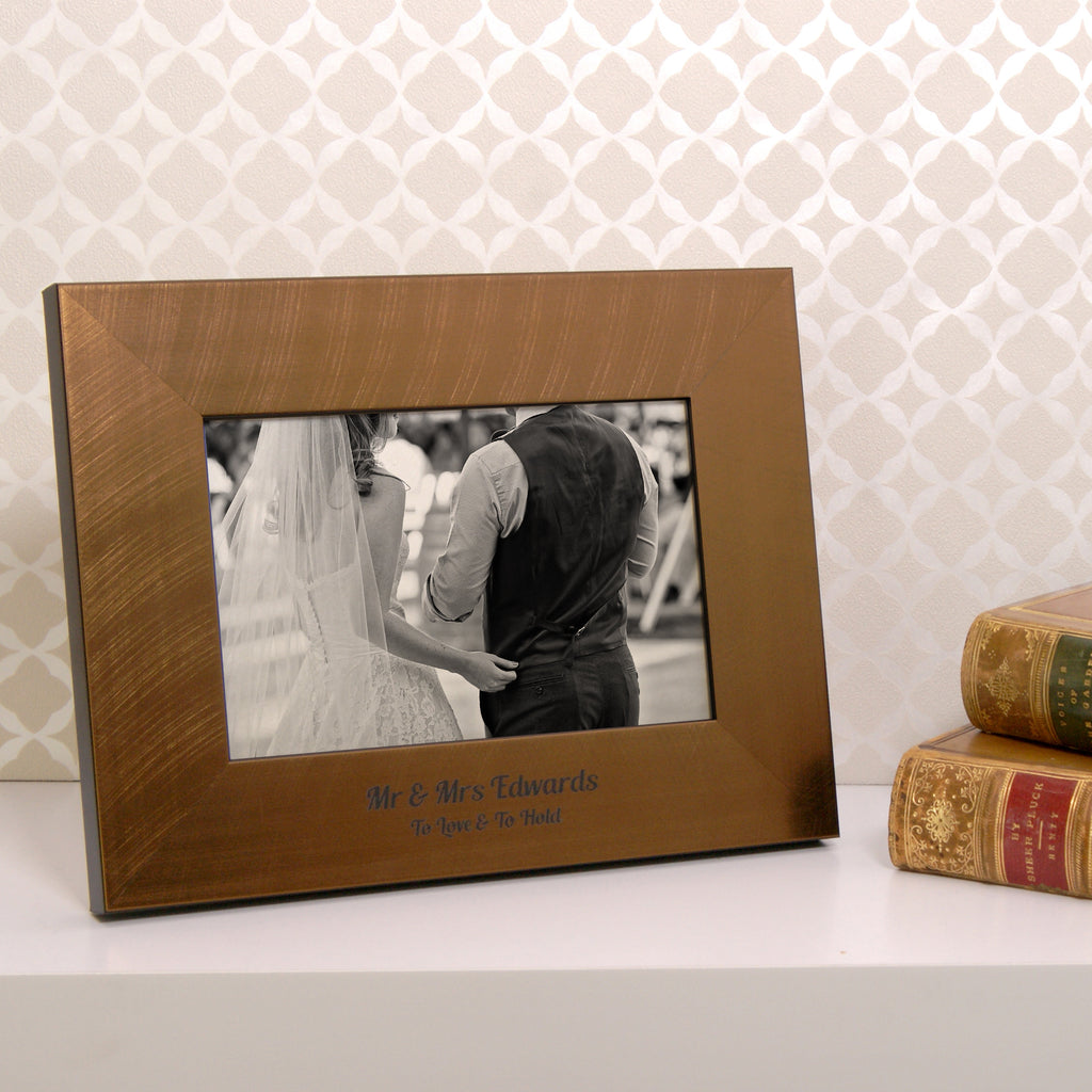 Wedding Photo Frame in Bronze