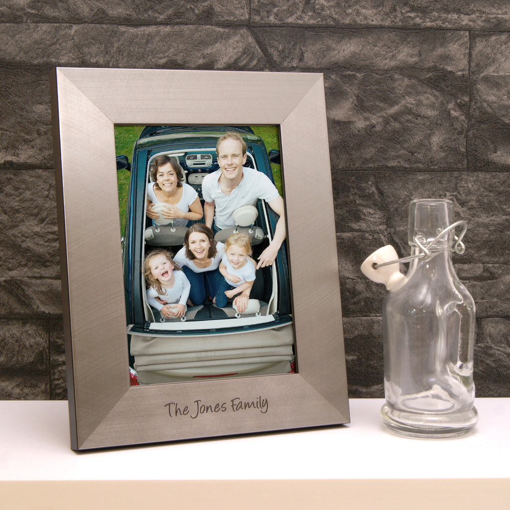 Family Photo Frame in Pewter