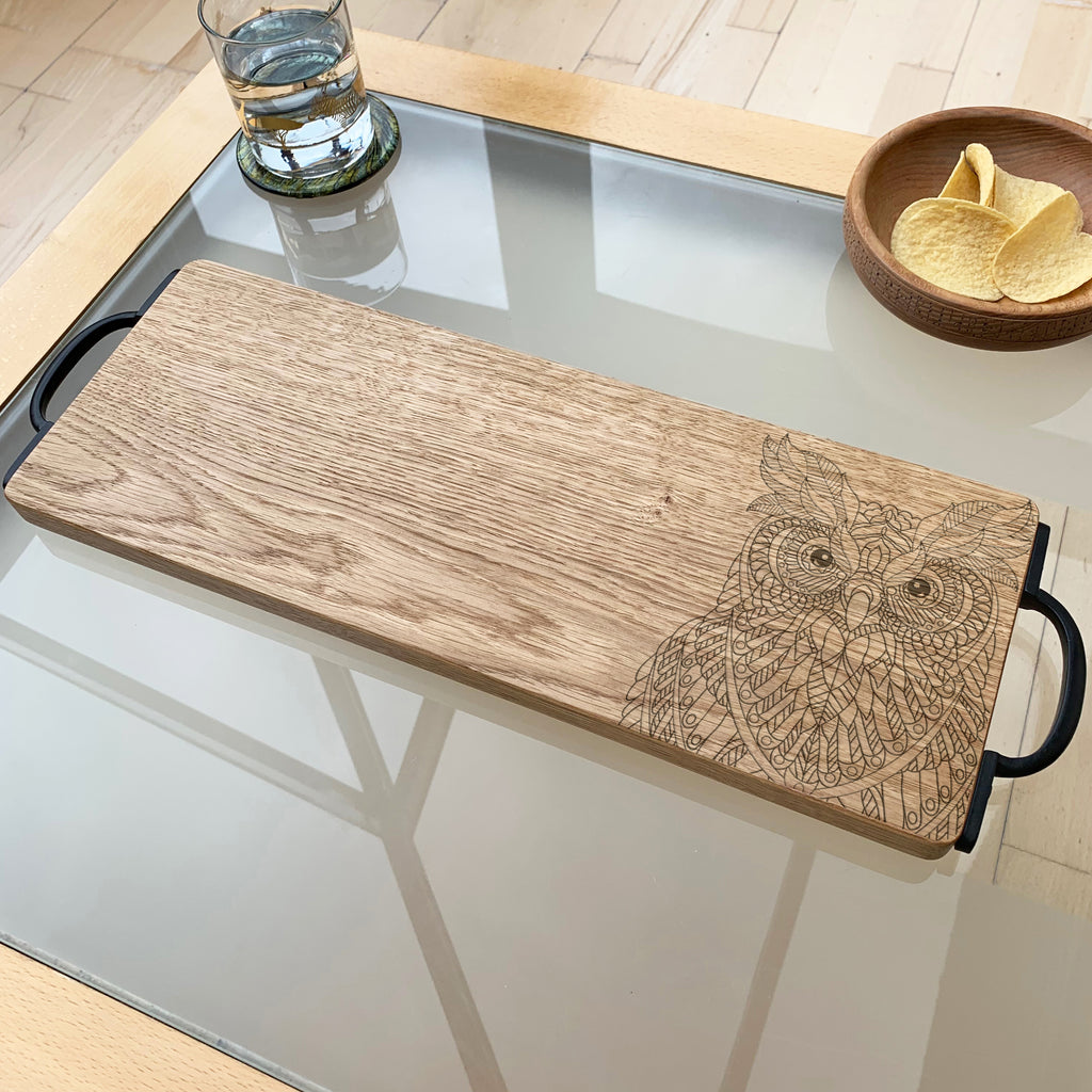 Wooden Owl Serving Board