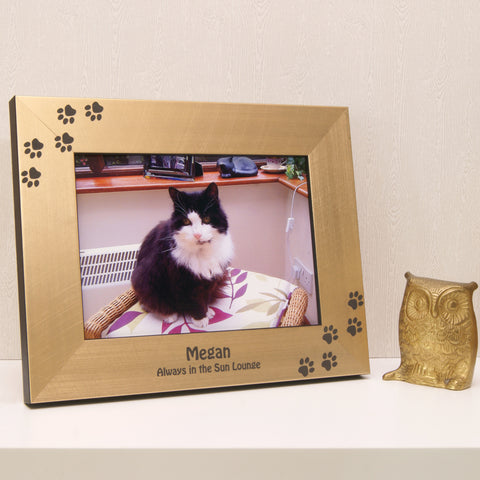Personalised Paw Print Photo Frame