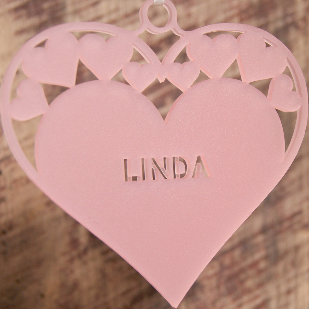Personalised Heart Christmas Tree Decoration