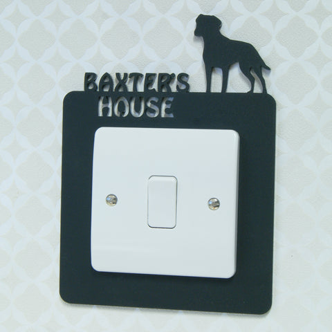 Personalised Pet Light Switch Surround