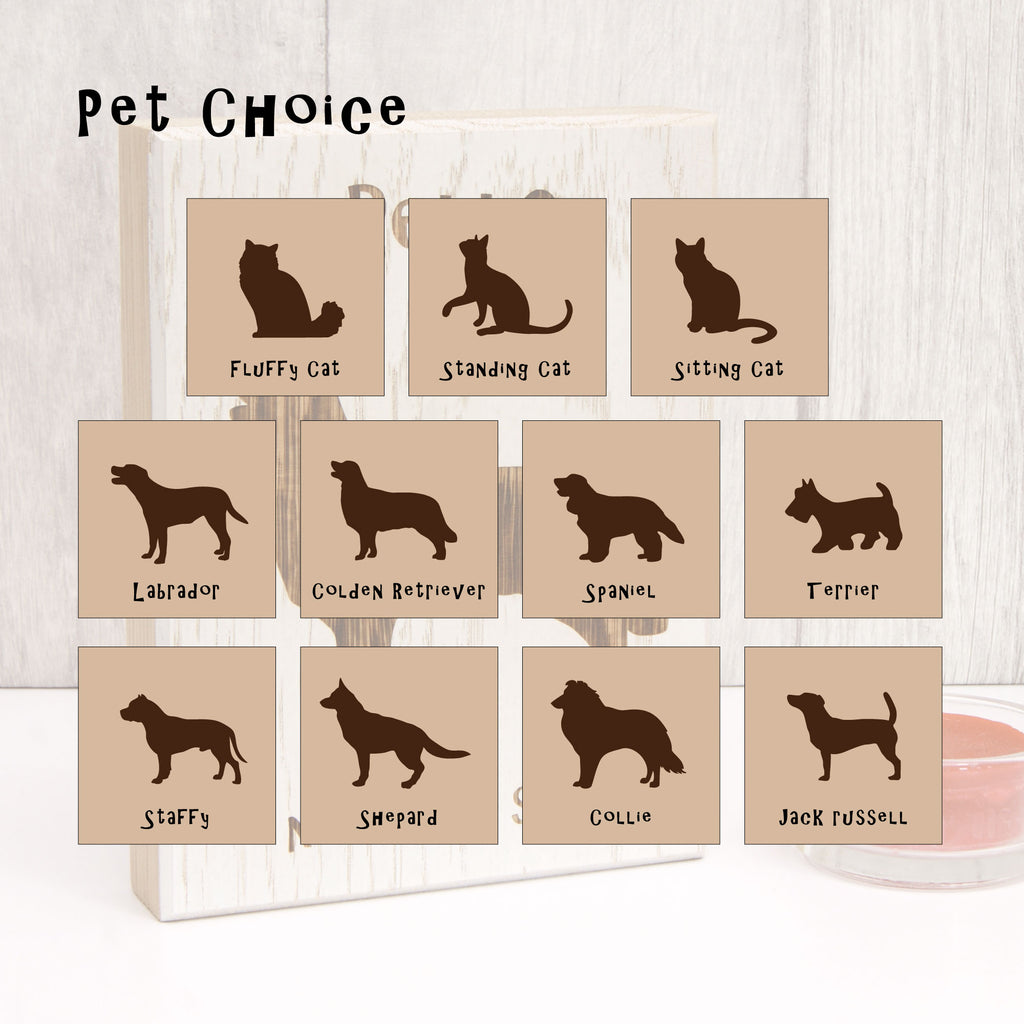 Personalised Cat Silhouette Wooden Artwork