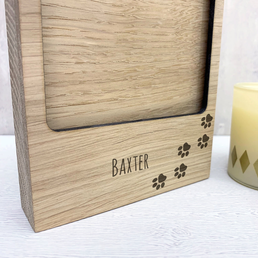 Personalised Paw Print Photo Block
