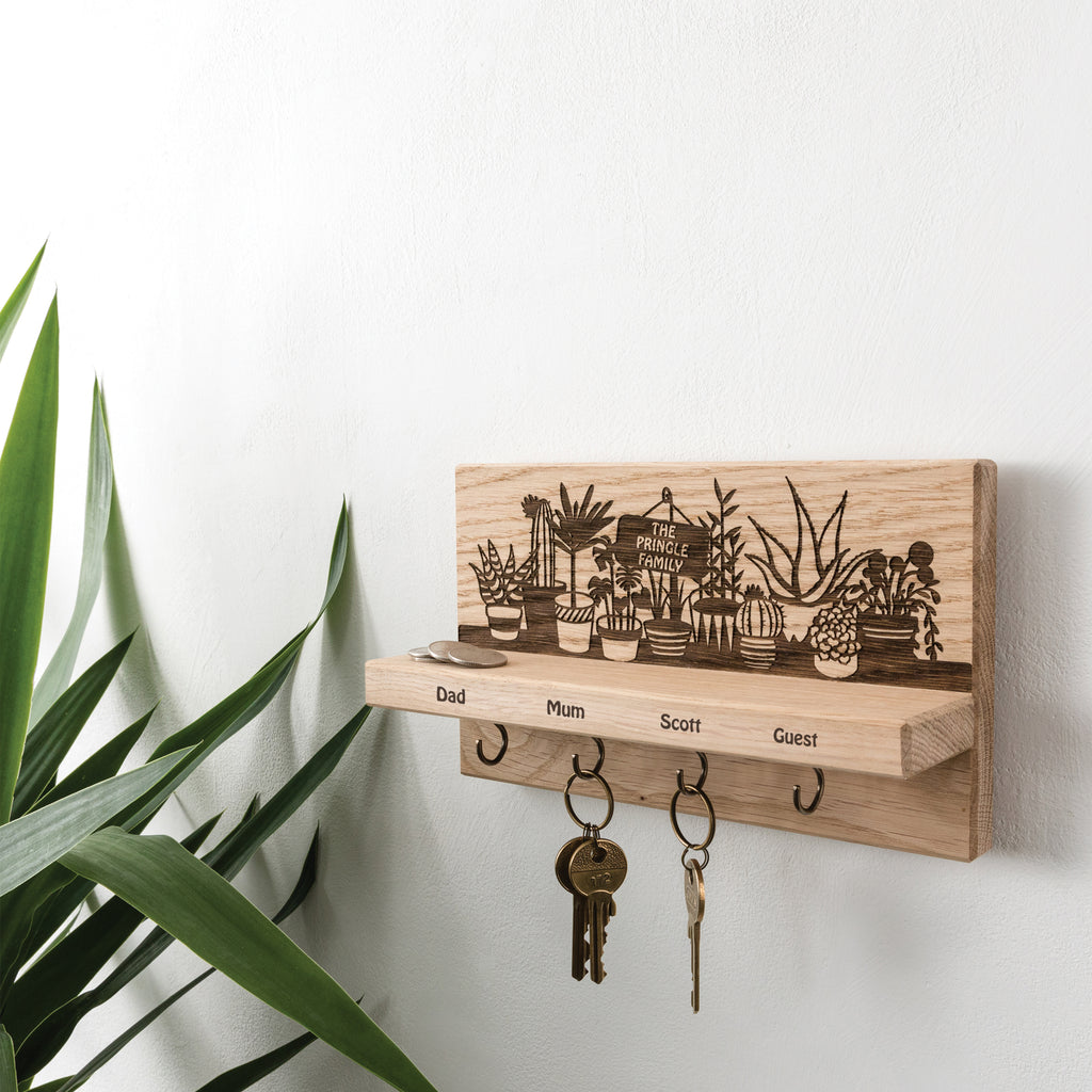 Personalised Plant Pot Key Holder