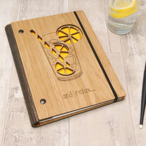 Cocktail Notebook in Yellow