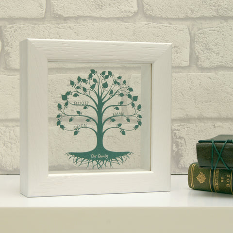 Mini Family Tree in Pearlescent Emerald Green