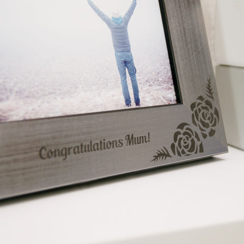 Personalised Rose Photo Frame