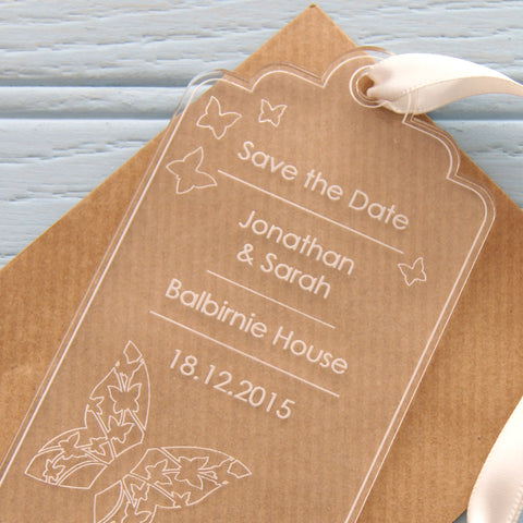 Save The Date - Butterfly Design