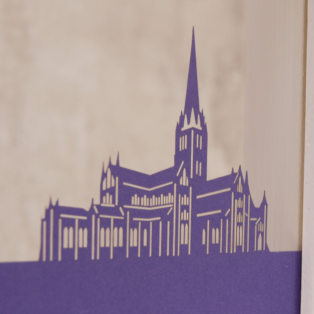 Salisbury Cathedral in Matt Purple