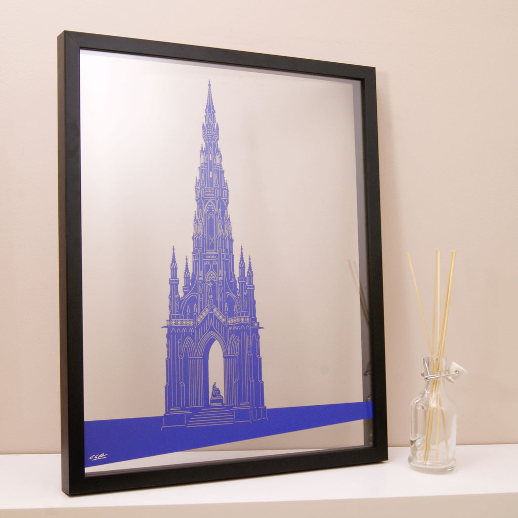 Edinburgh The Scott Monument in Matt Purple