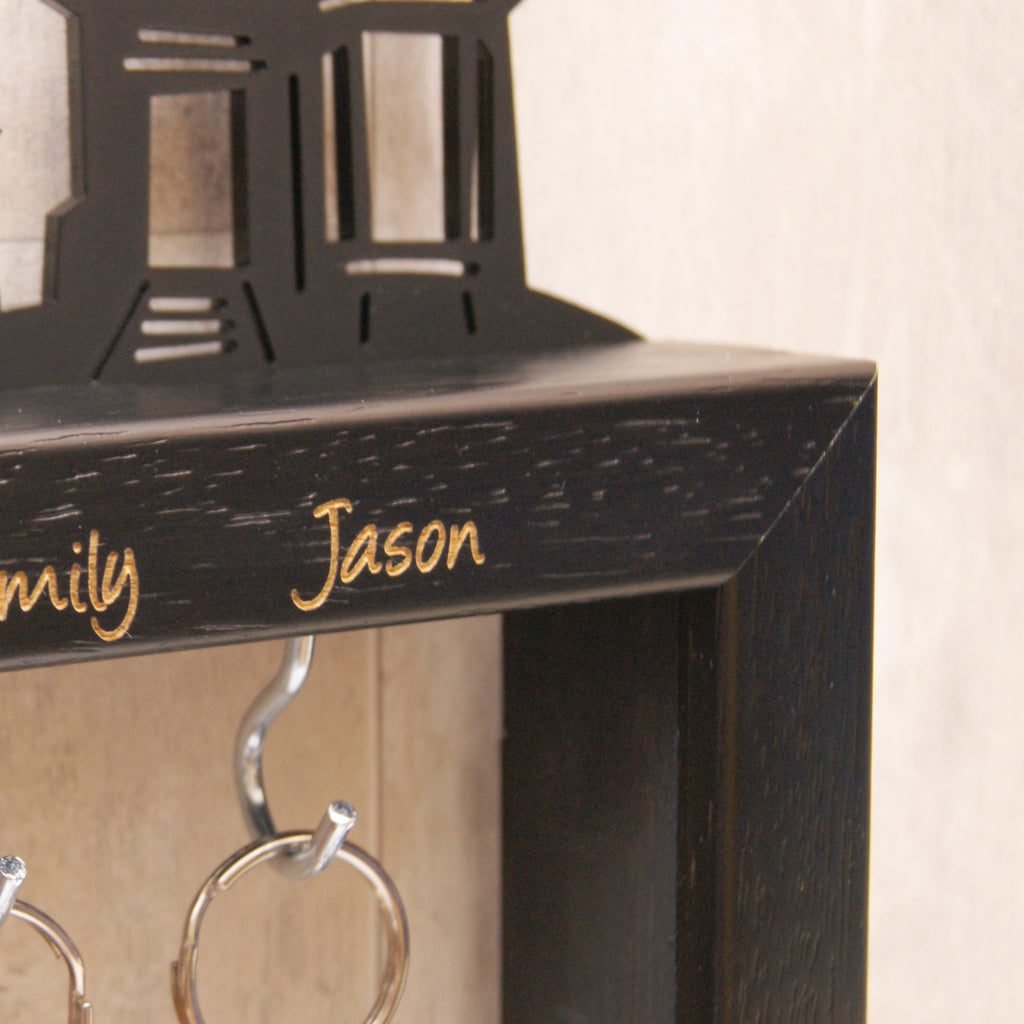 Personalised Small Family Key Holder