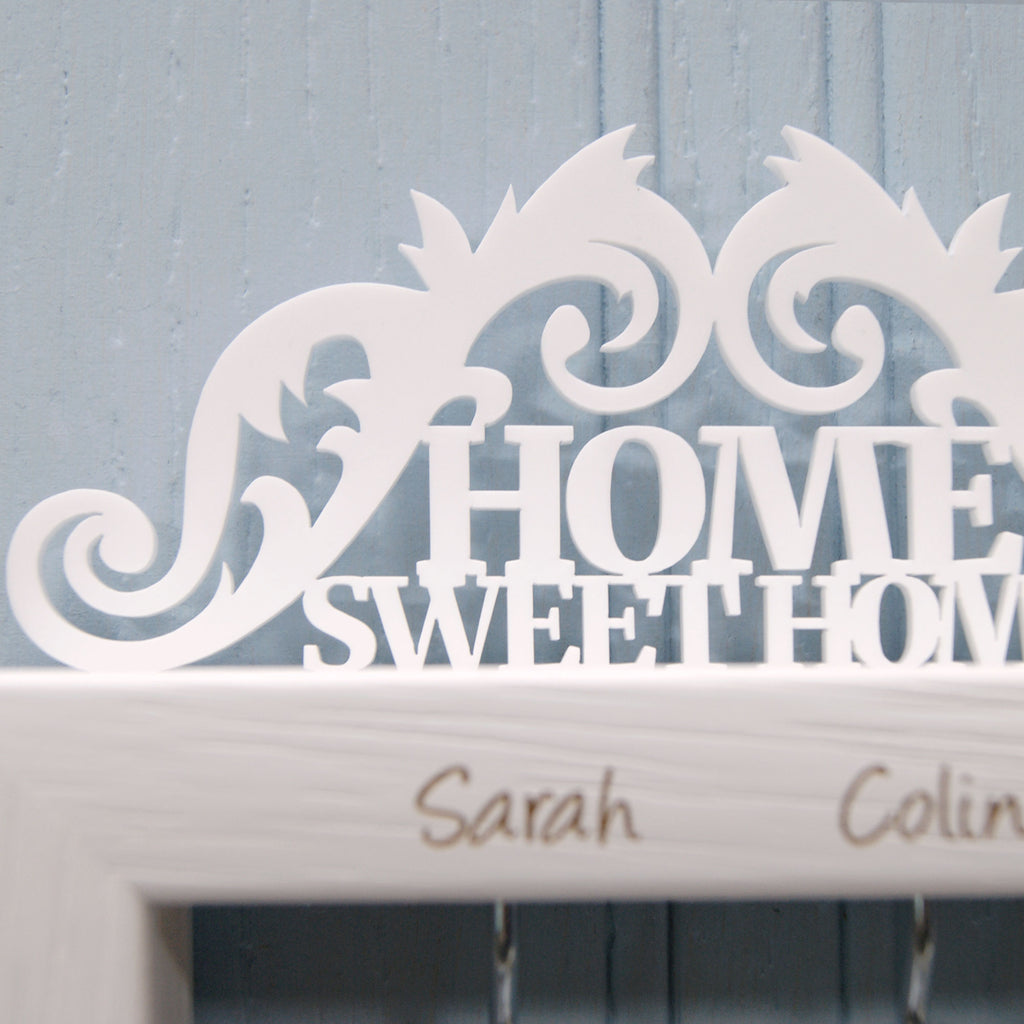 Personalised Home Sweet Home Key Holder