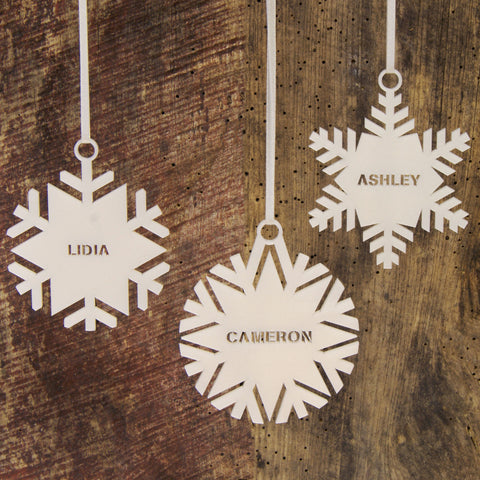 Personalised Snowflake Christmas Tree Decoration