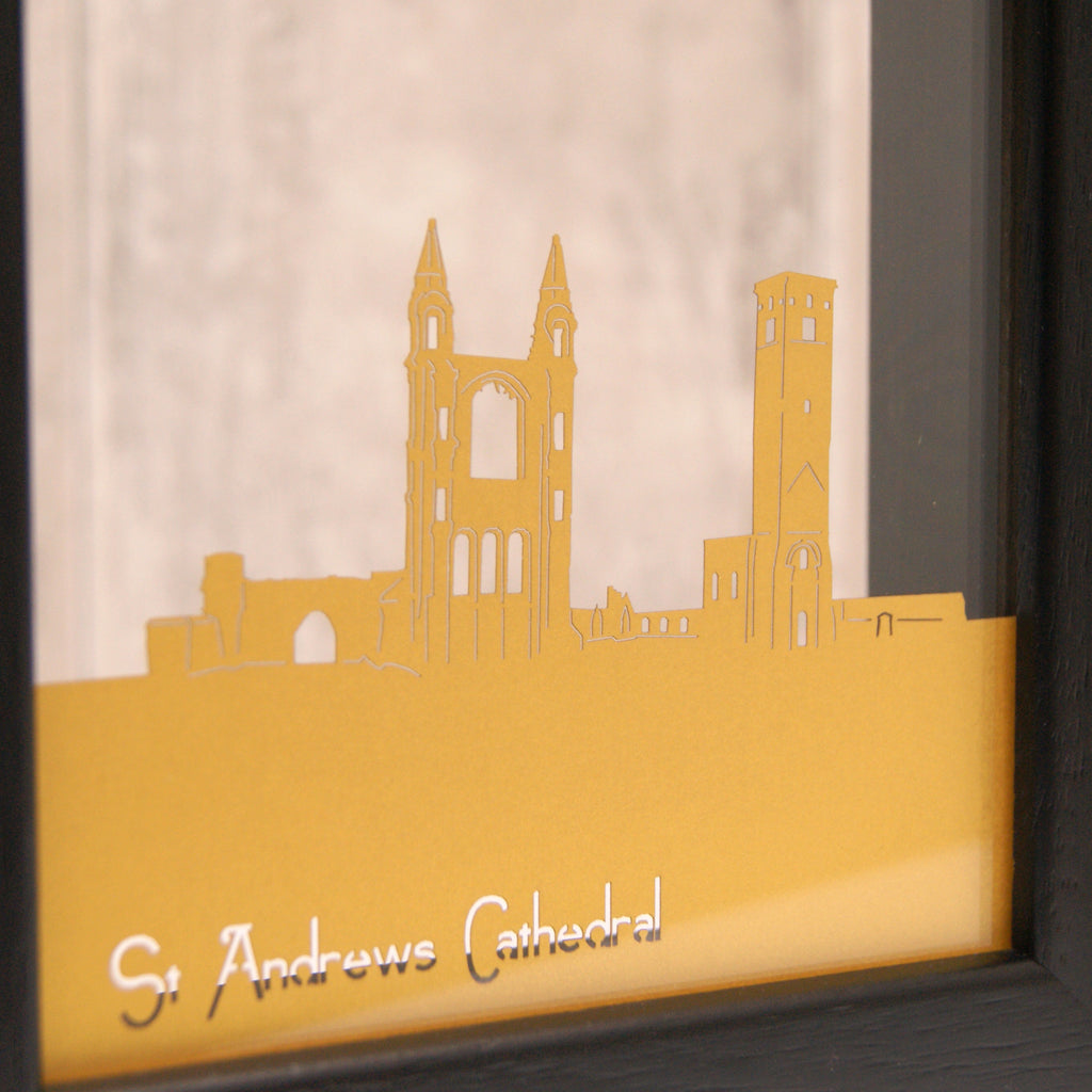 St Andrews Cathedral in Pearlescent Super Gold
