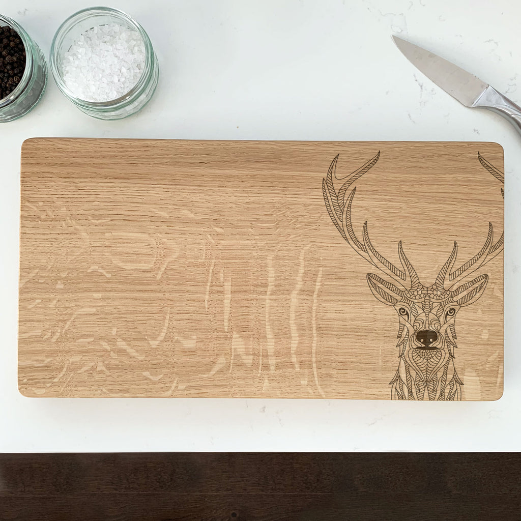 Wooden Stag's Head Chopping Board