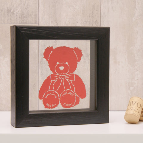 Personalised Baby Teddy Bear Mini Wall Art