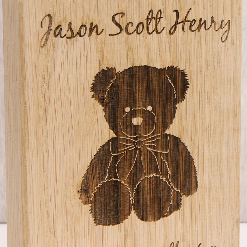 Teddy Bear in Bare Oak