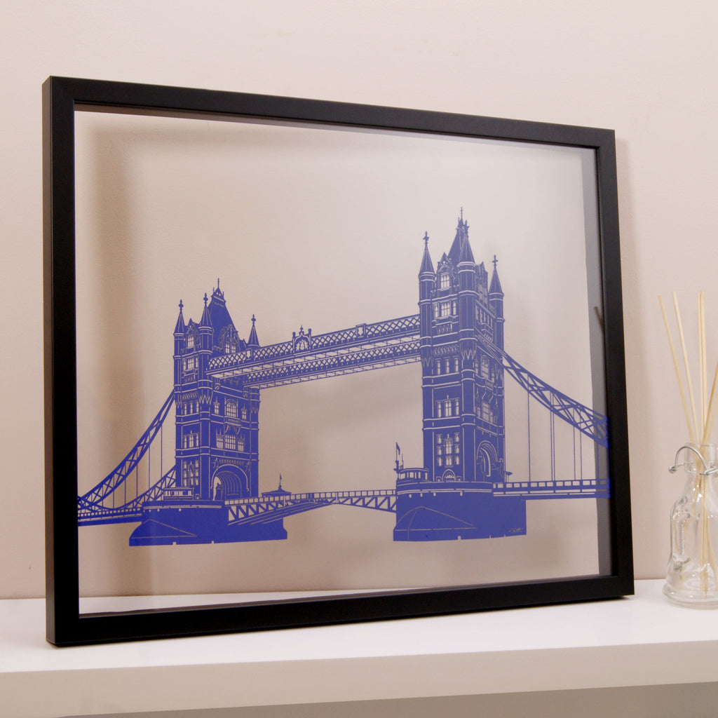 London - Tower Bridge Papercut Wall Art