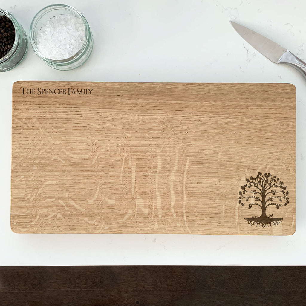 Personalised Wooden Family Tree Chopping Board
