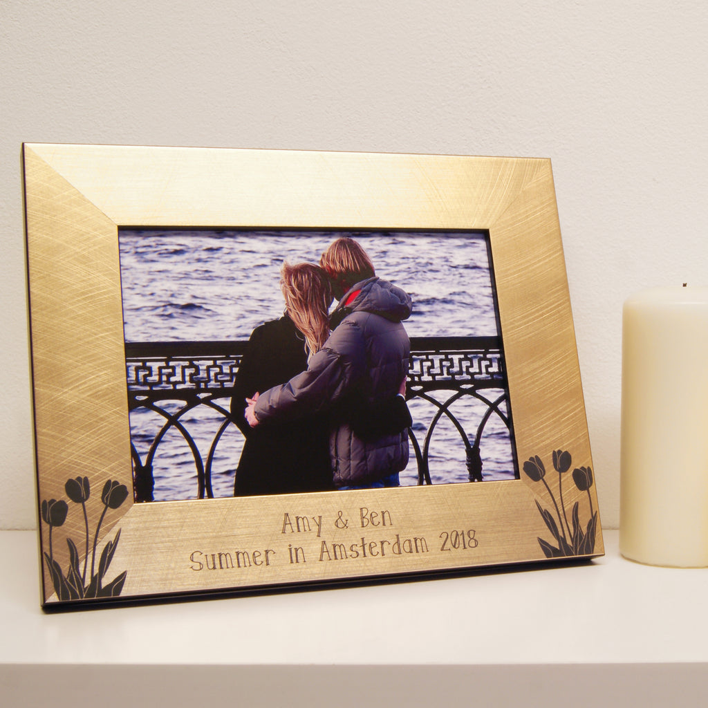 Personalised Tulips Photo Frame