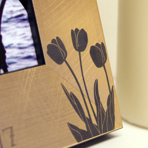 Tulips Photo Frame in Gold