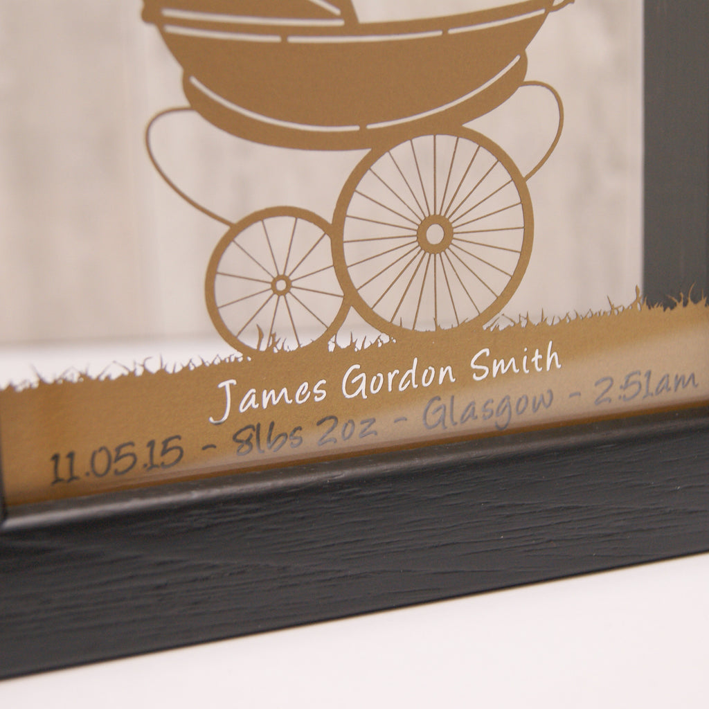 Vintage Pram in Pearlescent Gold