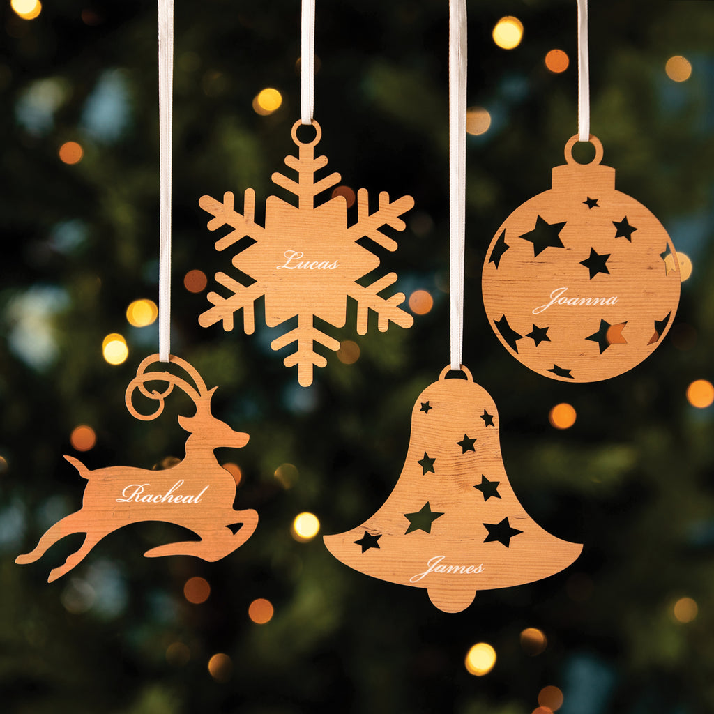 Personalised Engraved Christmas Tree Decoration
