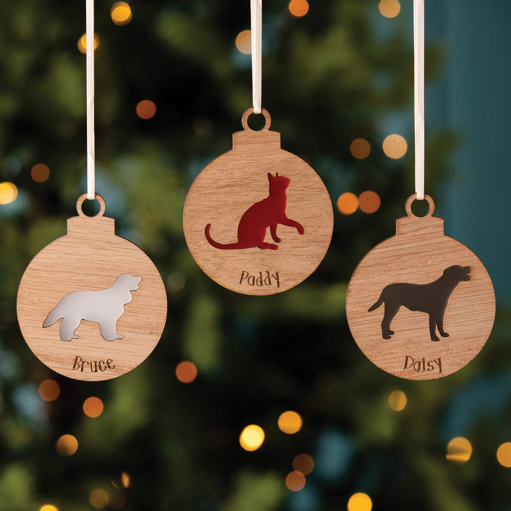 Personalised Wooden Pet Bauble