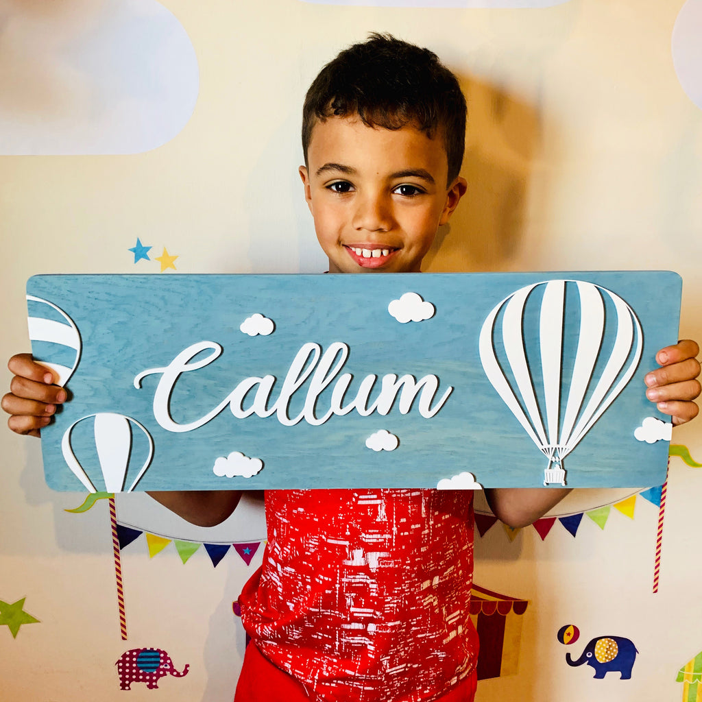 Personalised Hor Air Balloon Name Plaque