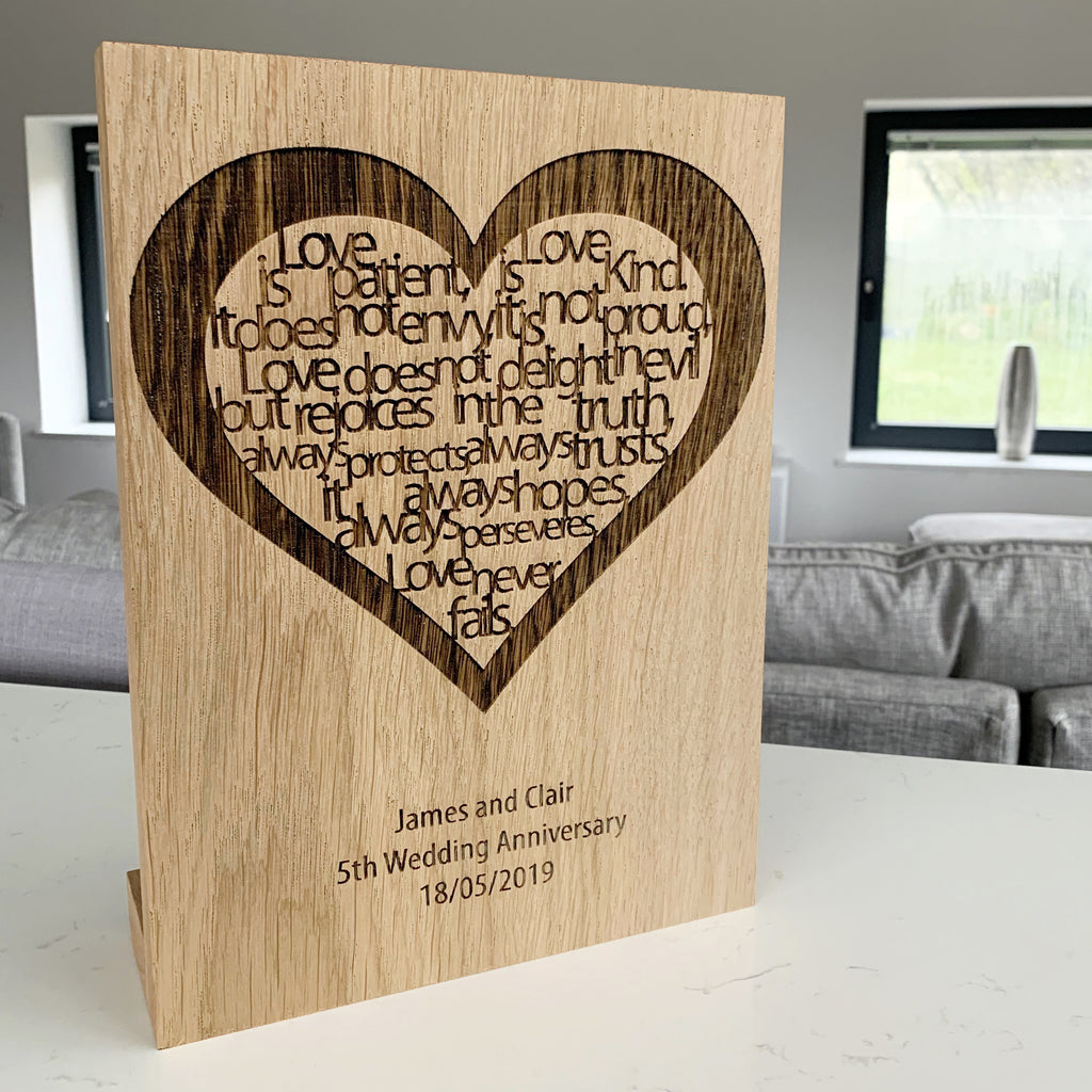 Personalised 'Love Is...' Block Artwork