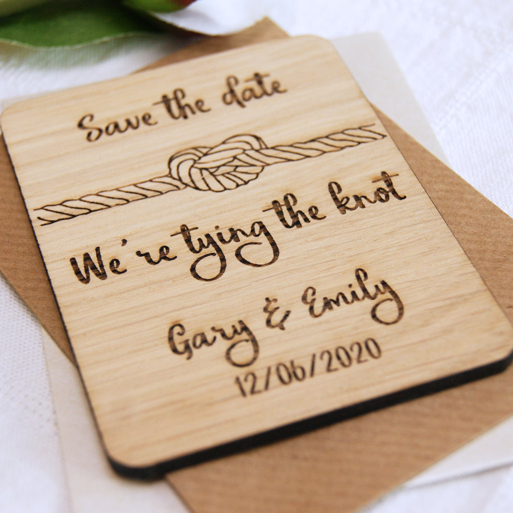 Knot Save The Date Magnet